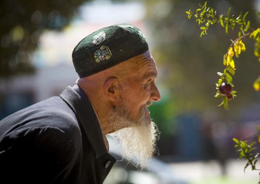 Old Uyghur Man, Old Town Of Kashgar, Xinjiang Uyghur Autonomous Region, China