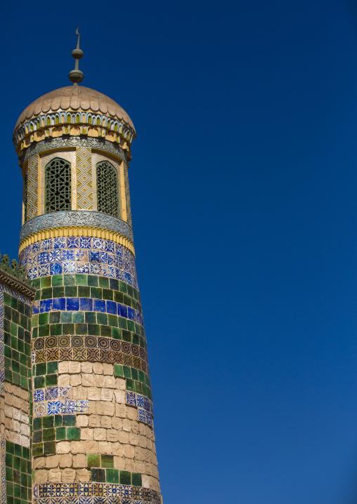Abakh Hoja Minaret, Burial Place Of Muhatum Ajam, Kashgar, Xinjiang Uyghur Autonomous Region, China