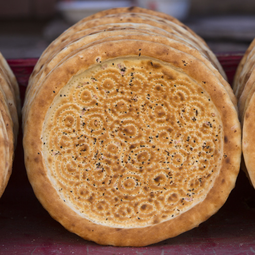 Traditional Bread In Old Town Of Kashgar, Xinjiang Uyghur Autonomous Region, China