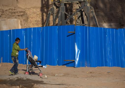 Kids In The Demolished Old Town Of Kashgar, Xinjiang Uyghur Autonomous Region, China