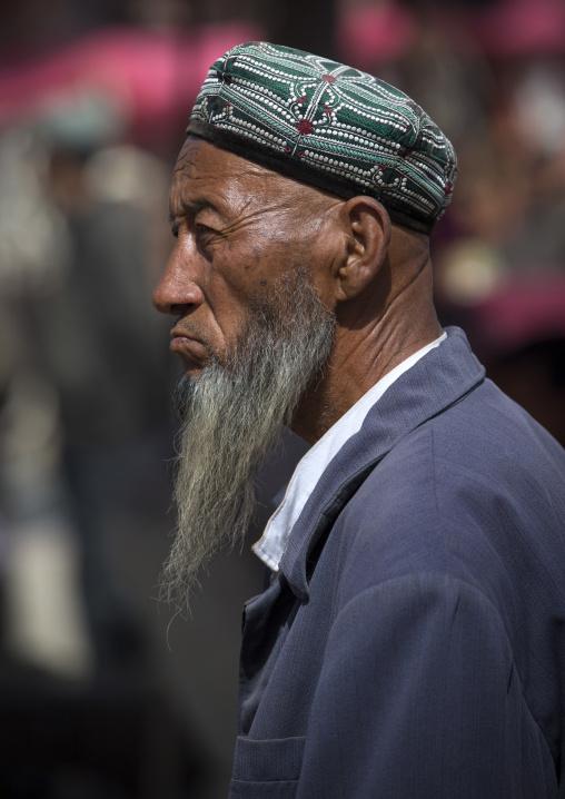 Uyghur Man, Opal Village Market, Xinjiang Uyghur Autonomous Region, China