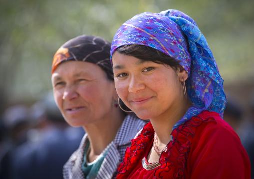 Uyghur Women, Opal Village Market, Xinjiang Uyghur Autonomous Region, China