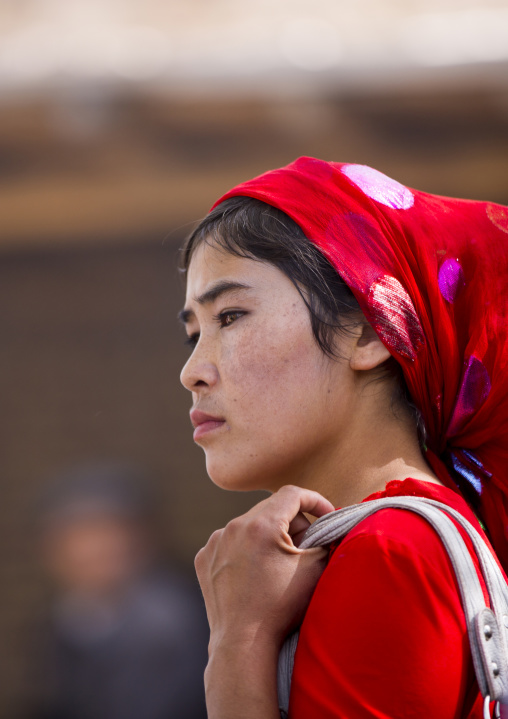 Young Uyghur Woman, Opal Village Market, Xinjiang Uyghur Autonomous Region, China