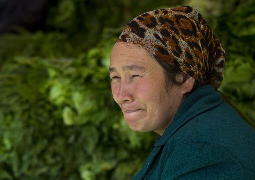 Uyghur Woman, Opal Village Market, Xinjiang Uyghur Autonomous Region, China
