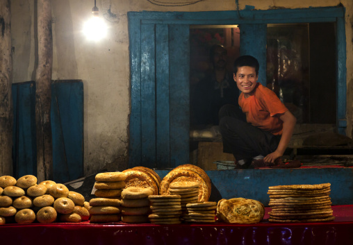 Uygur Bagels And Breads In Old Kashgar, Xinjiang Uyghur Autonomous Region, China