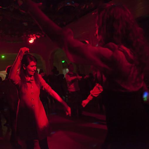 Tajik and kyrgyz People Dancing At A Party, Xinjiang Uyghur Autonomous Region, China