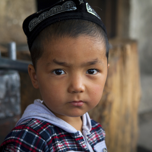 Young Uyghur Boy, Keriya, Old Town, Xinjiang Uyghur Autonomous Region, China