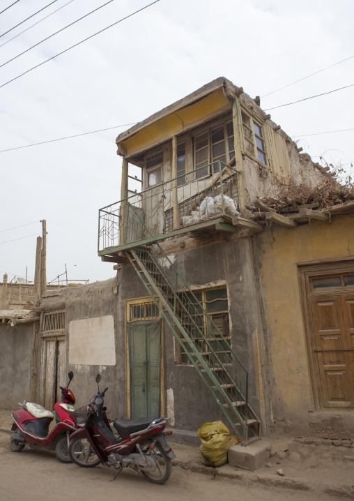 Old House, Keriya, Old Town, Xinjiang Uyghur Autonomous Region, China