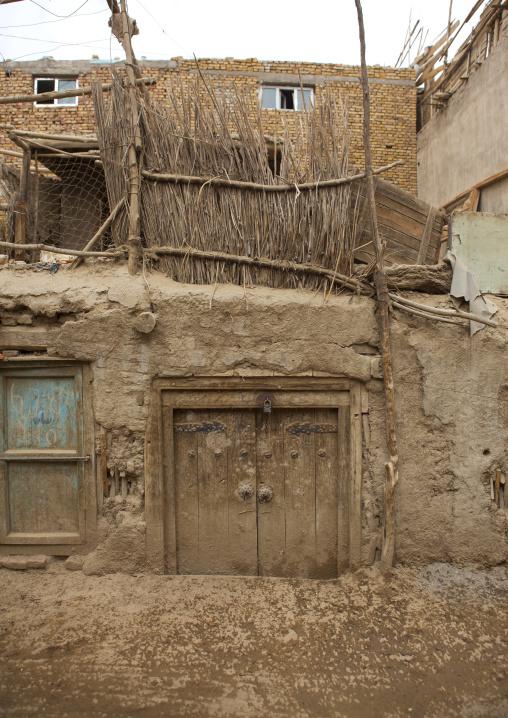 Old Uyghur Mud House In Keriya, Old Town, Xinjiang Uyghur Autonomous Region, China