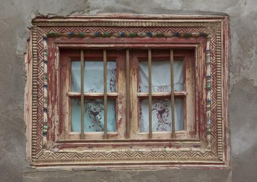 Old Window In Keriya, Old Town, Xinjiang Uyghur Autonomous Region, China