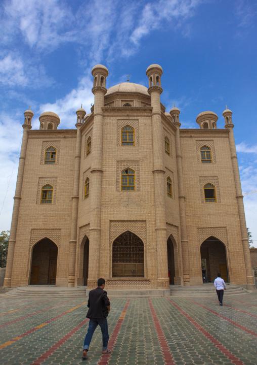 Mosque in Keriya, Xinjiang Uyghur Autonomous Region, China