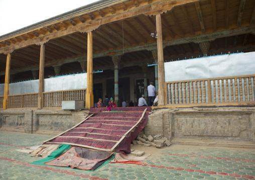 Mosque entrance, Keriya, Xinjiang Uyghur Autonomous Region, China