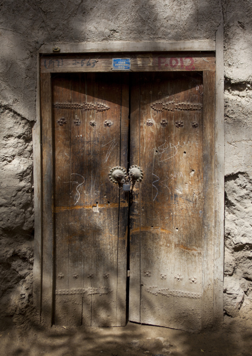 Traditional Door, Minfeng, Xinjiang Uyghur Autonomous Region, China