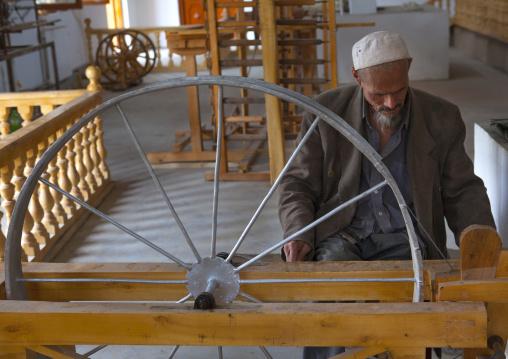 Uyghur Worker In A Silk Factory, Hotan, Xinjiang Uyghur Autonomous Region, China