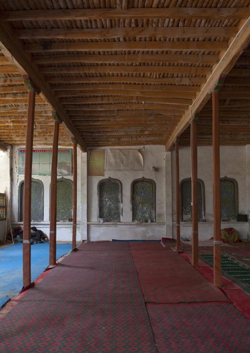 Inside Imam Asim Mosque In The Taklamakan Desert, Xinjiang Uyghur Autonomous Region, China