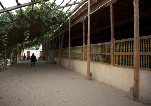 Pergola At Imam Asim Mosque In The Taklamakan Desert, Xinjiang Uyghur Autonomous Region, China