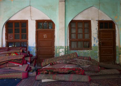 Piles Of Carpet Inside Altyn Mosque, Yarkand, Xinjiang Uyghur Autonomous Region, China