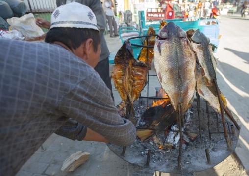 Fish Barbecue In Yarkand, Xinjiang Uyghur Autonomous Region, China