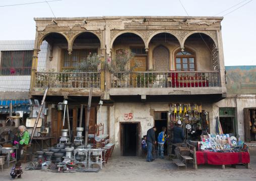 Shops Down An Old Uyghur House, Yarkand, Xinjiang Uyghur Autonomous Region, China