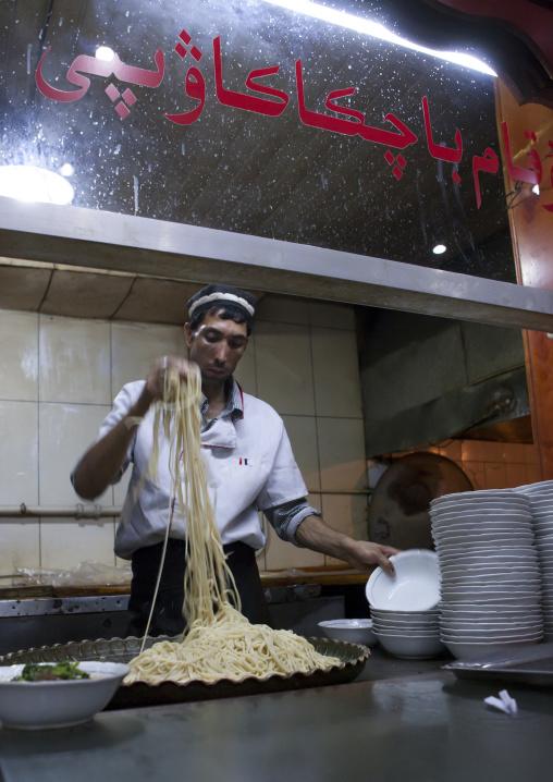 Cook Preparing Laghman, Yarkand, Xinjiang Uyghur Autonomous Region, China