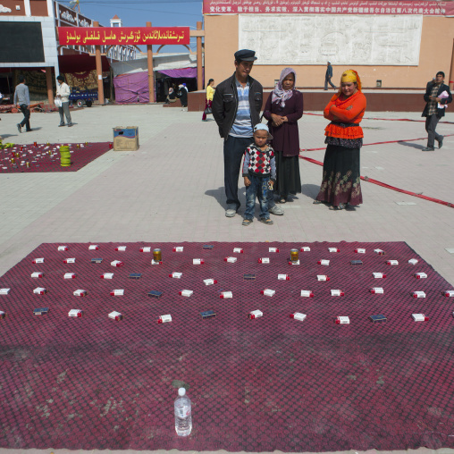 Selling Cigarets, Serik Buya Market, Yarkand, Xinjiang Uyghur Autonomous Region, China