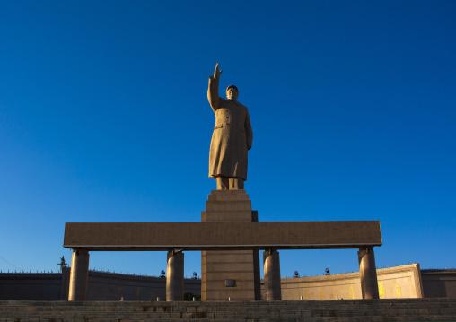 Statue Of Chairman Mao In Center Square In Kashgar, Xinjiang Uyghur Autonomous Region, China, Xinjiang Uyghur Autonomous Region, China