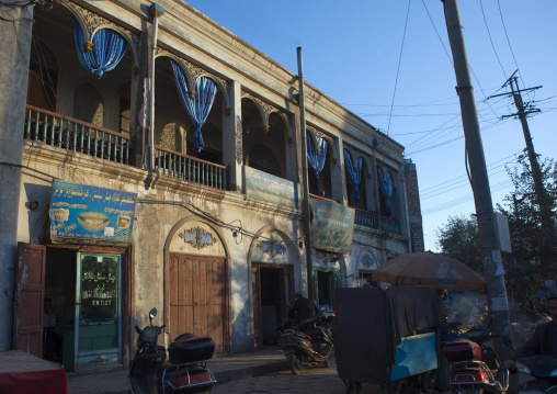 Ostangboyi Tea House, Kashgar, Xinjiang Uyghur Autonomous Region, China