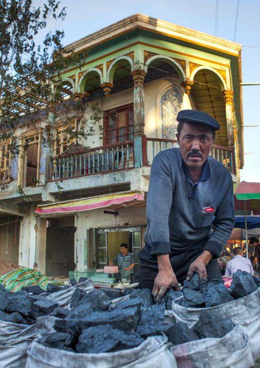 Coal Seller, Kashgar, Xinjiang Uyghur Autonomous Region, China