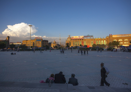 Id Kah Square In Kashgar, Xinjiang Uyghur Autonomous Region, China