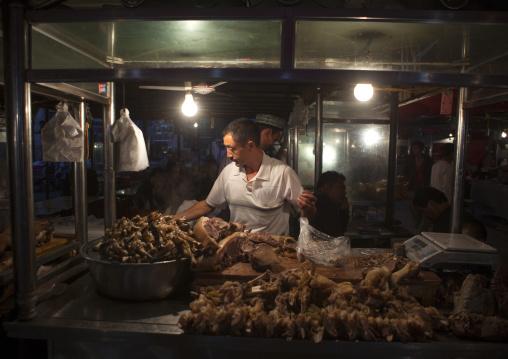 Food Stalls In Night Market, Kashgar, Xinjiang Uyghur Autonomous Region, China