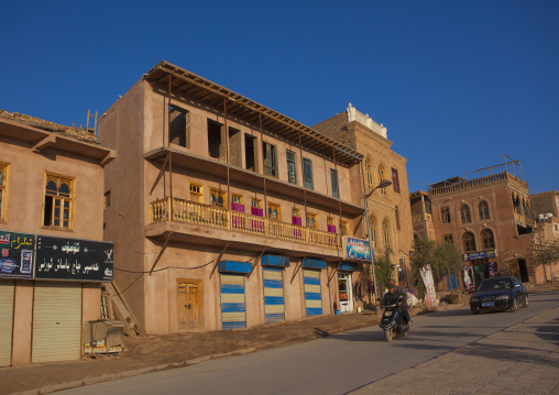 Renovated Buildings In The Old Town Of Kashgar, Xinjiang Uyghur Autonomous Region, China