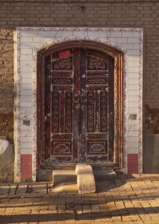 Traditional Door, Old Town Of Kashgar, Xinjiang Uyghur Autonomous Region, China