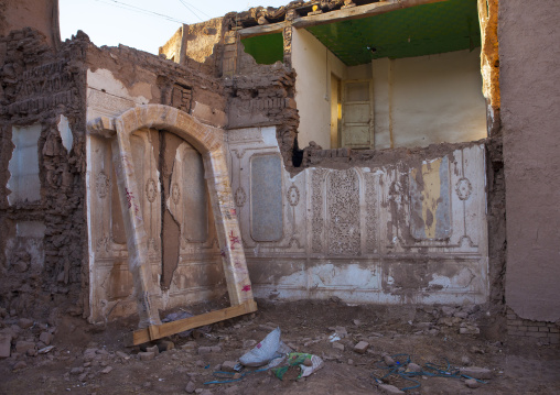 Demolished House In Old Town Of Kashgar, Xinjiang Uyghur Autonomous Region, China