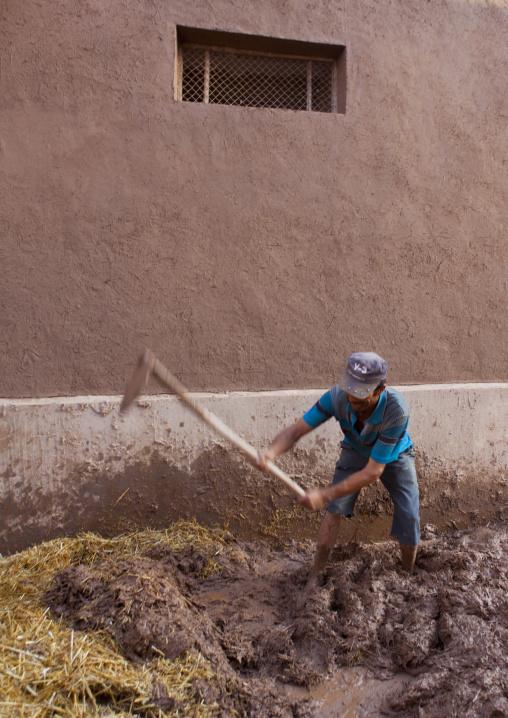 Rebuilding Houses, Old Town Of Kashgar, Xinjiang Uyghur Autonomous Region, China