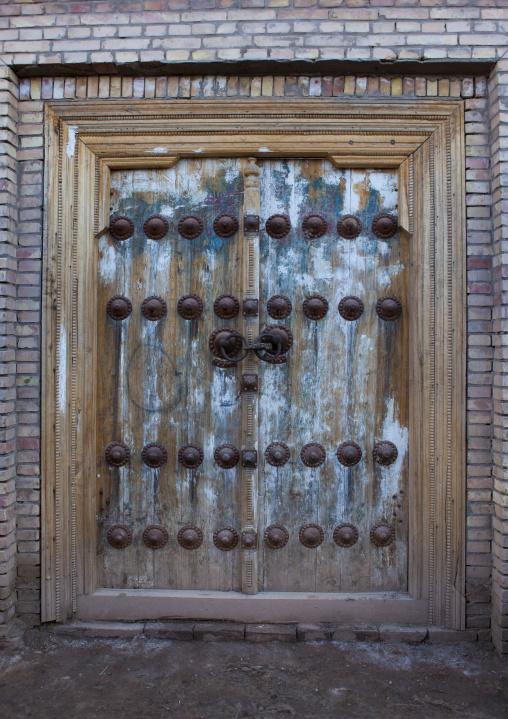 Traditional Door In Old Town Of Kashgar, Xinjiang Uyghur Autonomous Region, China