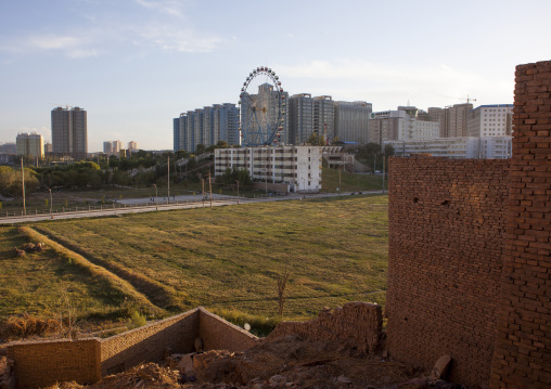 New Town seen from the old town Kashgar, Xinjiang Uyghur Autonomous Region, China
