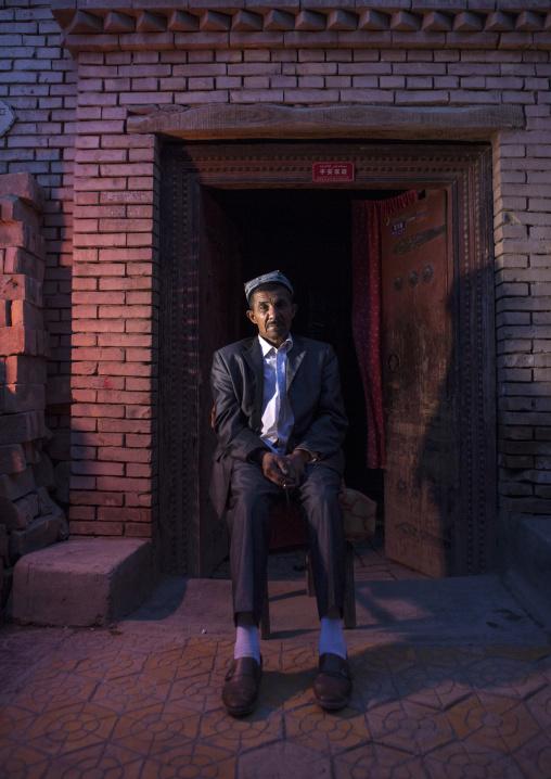 Man in the Old Town Of Kashgar, Xinjiang Uyghur Autonomous Region, China