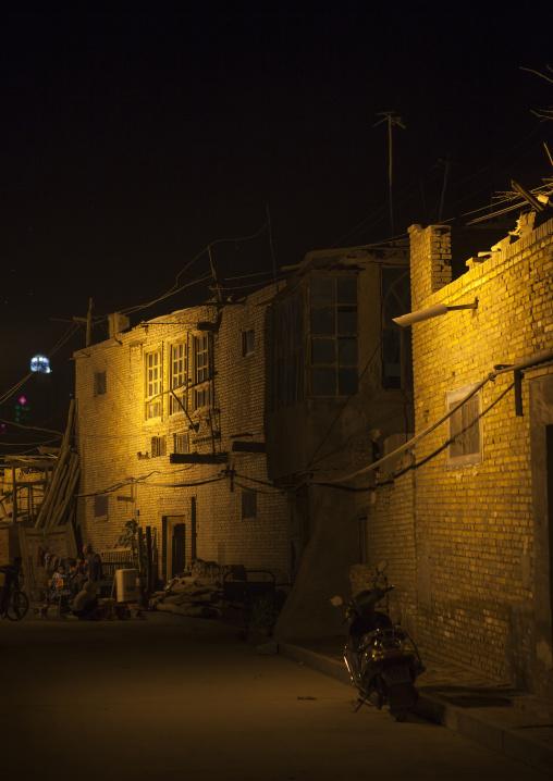 Old Town Of Kashgar by night, Xinjiang Uyghur Autonomous Region, China