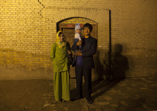 Family in the Old Town Of Kashgar, Xinjiang Uyghur Autonomous Region, China