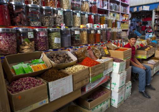 Market Stall In Kashgar Bazaar, Xinjiang Uyghur Autonomous Region, China