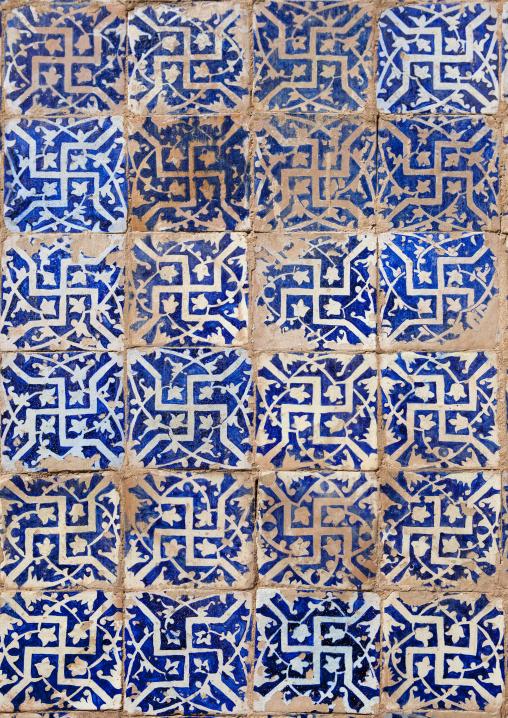 Detail Of Ceramic In Abakh Hoja Tomb, Burial Place Of Muhatum Ajam, Kashgar, Xinjiang Uyghur Autonomous Region, China