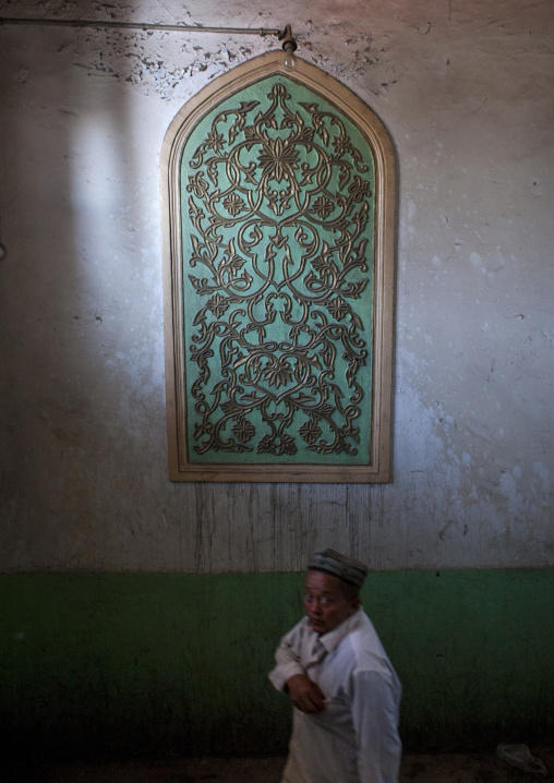 Uyghur Man In Ostangboyi Tea House, Kashgar, Xinjiang Uyghur Autonomous Region, China