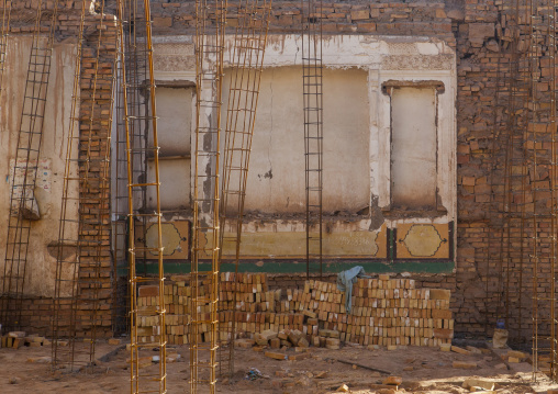 House Under Renovation In Old Town Of Kashgar, Xinjiang Uyghur Autonomous Region, China