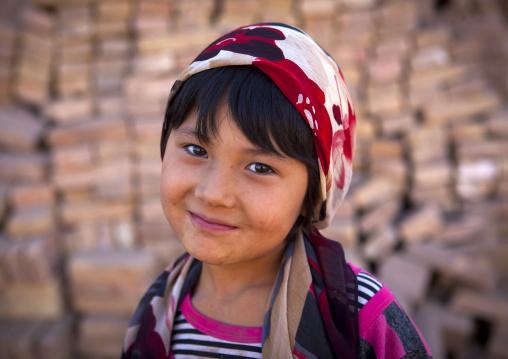 smiling Uyghur Girl In Old Town Of Kashgar, Xinjiang Uyghur Autonomous Region, China