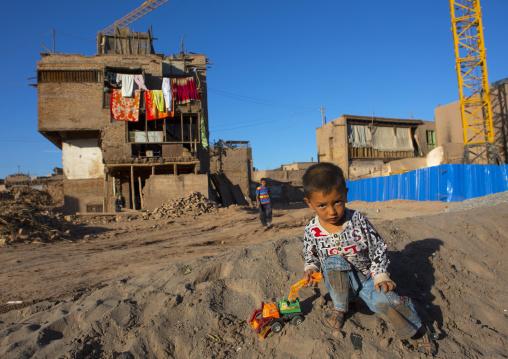 Renovations In The Old Town Of Kashgar, Xinjiang Uyghur Autonomous Region, China