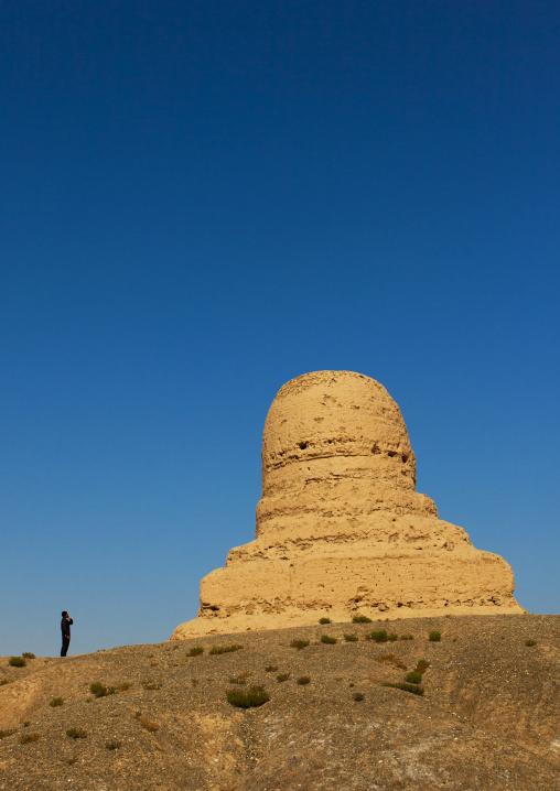 Mor Buddhist Stupa, Kashgar, Xinjiang, China, Xinjiang Uyghur Autonomous Region, China