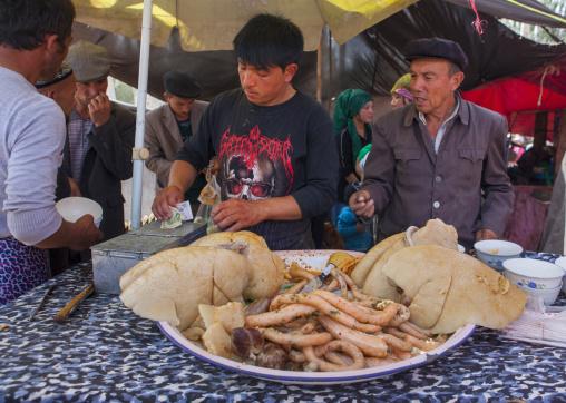 Mutton Lungs And Guts, Opal Village Market, Xinjiang, China, Xinjiang Uyghur Autonomous Region, China