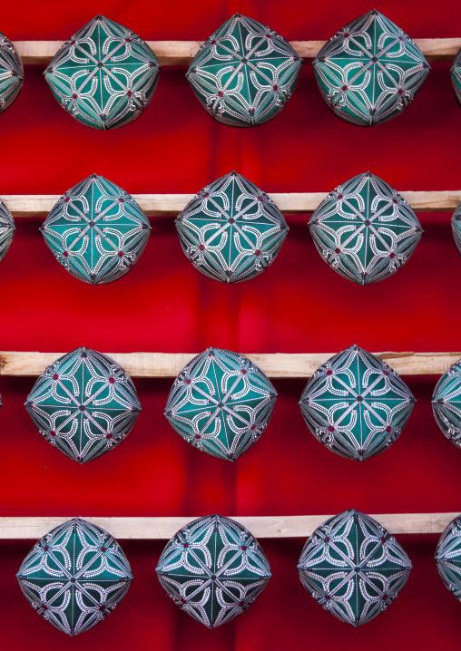 Doppi Muslim Hats, Opal Village Market, Xinjiang Uyghur Autonomous Region, China