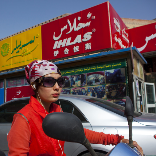 Girl in the New Town Of Kashgar, Xinjiang Uyghur Autonomous Region, China