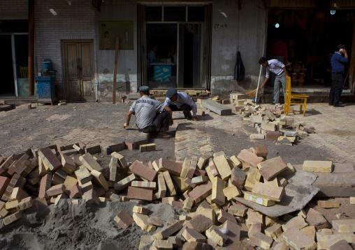 Rebuilding The Street, Old Town Of Kashgar, Xinjiang Uyghur Autonomous Region, China